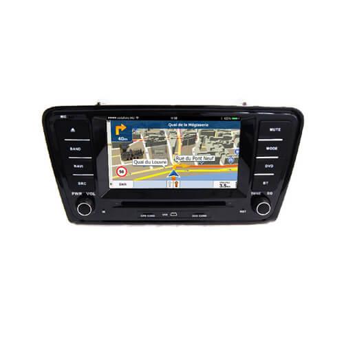 Skoda Octavia 2014/A7 Double Din Music System For Car