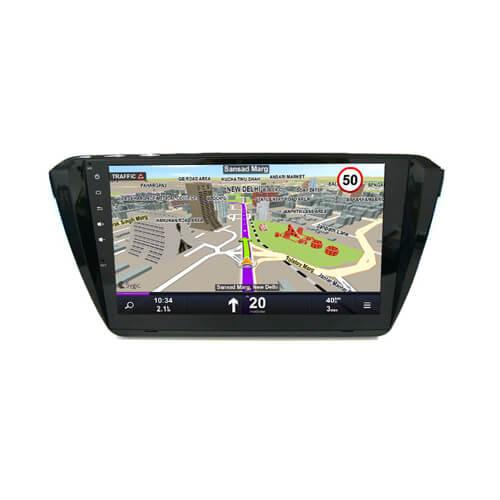 Skoda Superb Car DVD Player Navigation With Bluetooth