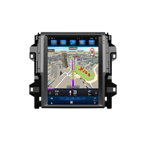 Toyota Fortuner 2016 In Car Navigation Audio System Tesla Style