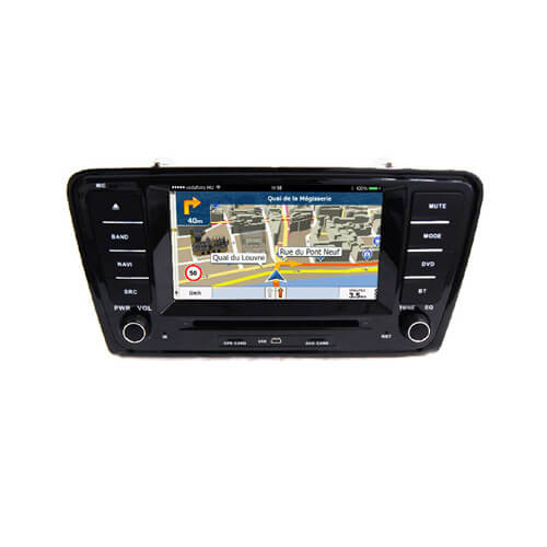 Skoda Octavia 2014/A7 Double Din Music System For Car