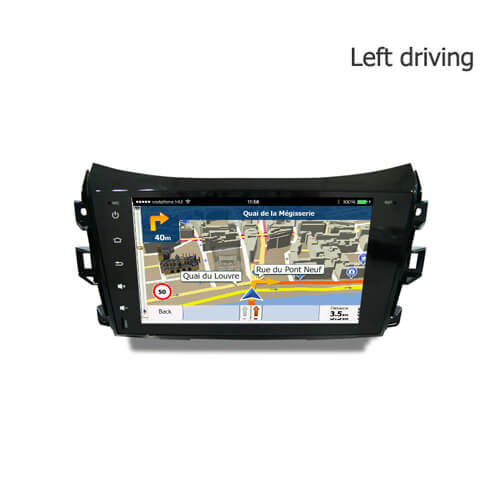Nissan Navara (Left) Double Din Android Car Navigation