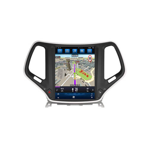 Jeep Cherokee Tesla Style In Dash Multimedia Receiver