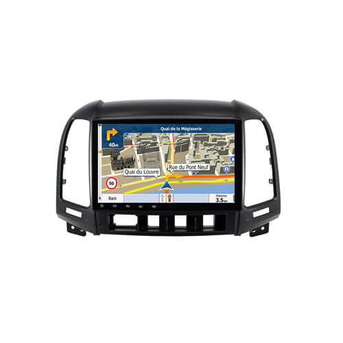 Hyundai Santa Fe Capacitive Screen GPS Navigation Device